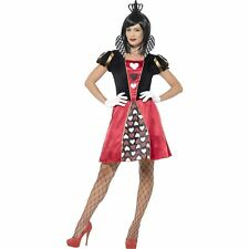 Carded Queen of Hearts Red Alice Wonderland Womens Ladies Fancy Dress Costume