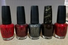 5 OPI LOT Point-settia Bogota Blackberry Number One Nemesis Vesper Danke-shiny