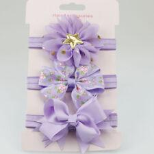 3Pcs/Lot Baby Kids Headband Girl Elastic Flower Skinny Stretch Bowknot Hairbands