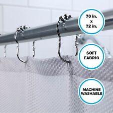 "Standard Tub Size Fabric Shower Curtain: 70"" x 72"" Soft Gray Curtain"