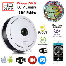 960P HD 360 Degree Fisheye P2P WiFi IP Camera Security Network Cam Night Vision