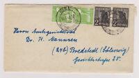 All.Bes./Gemeinsch.Ausg. Mi. 943(2),946(2), Kiel/Reichspost, 14.6.48, mit Inhalt