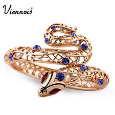 Viennois Snake Bangle crystal rhinestone Rose Gold Plated Bracelet Bangle
