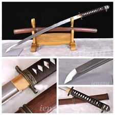 Japanese 98 Type Military Samurai Sword Katana Folding Pattern Steel Sharp Blade