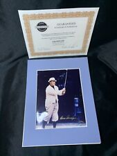 GENE SARAZEN Hand Signed 8x10 Photo Matted GOLF LEGEND! HOFer COA!