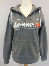 Men's Ellesse Zip Up Sweatshirt Hoodie S Grey Jumper