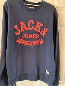 Jack /& Jones Men/'s Sweater Top Jack and Jones Eclipse Dark Blue.Large L NEW BNWT