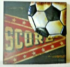3D Soccer Ball Wall Decor Plaque Den Child'S Room Decoration Picture Sports Art