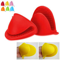 2 Pack Silicone Mini Oven Mitt Gloves Kitchen Cooking Heat Resistant Pot Holders