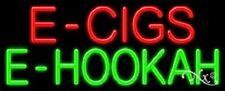 "NEW ""E - CIGS E-HOOKAH"" 32x13 REAL NEON SIGN w/CUSTOM OPTIONS 11389"