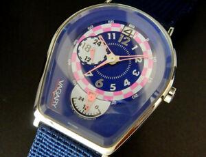 Working Vagary by Citizen Retro-Pop Dual Time Quartz Mens Unisex Blue Watch uhr