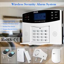 433Mhz GSM SMS Burglar Alarm App Remote Home Security Kit System Phone Talk C3H4