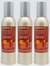 3 Yankee Candle SPICED PUMPKIN Concentrated Mini Room Spray Home Perfume 1.5 oz