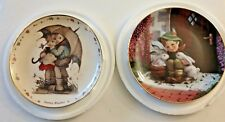 "Goebel Hummel ""Playmates"" & ""Stormy Weather"" Danbury Mint Collector Plates"
