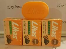 3 ORIGINAL LIKAS PAPAYA SOAP - HERBAL SOAP - SKIN WHITENING, LIGHTENING, 135g