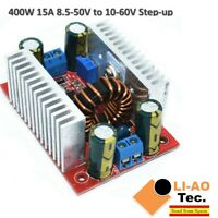 DC 400W 15A Step-up Boost Converter Power Supply LED Driver 8.5-50V to 10-60V