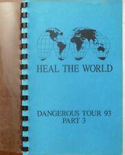 "RARE MICHAEL JACKSON DANGEROUS WORLD TOUR 93 PART 3  ""HEAL THE WORLD"" ITENERARY"