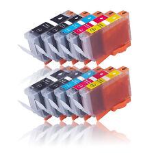 10x Tinte Patronen für CANON MG5200 MG5100 MG5150 MG5250 IP4950 MIT CHIP