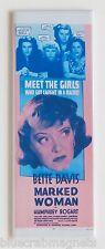 Marked Woman FRIDGE MAGNET (1.5 x 4.5 inches) insert movie poster bette davis
