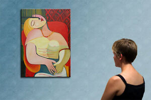 """39""""- PICASSO WOMAN________________ORIGINAL PAINTING oil on canvas  by RALUCA !!!"""