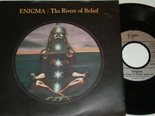 """7"""" - Enigma The Rivers of belief & Knocking on - Promo MINT 1991 # 4846"""