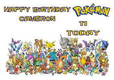 LARGE A5 GLOSSY PERSONALISED POKEMON BIRTHDAY CARD