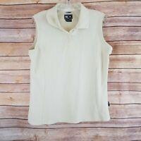 Adidas Womens Stretch Golf Polo Shirt Size L Sleeveless ClimaLite Light Green