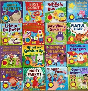 baby/Kids sound books & Baby bath books Ages 0+ One button Nursery Rhymes NEW!!!