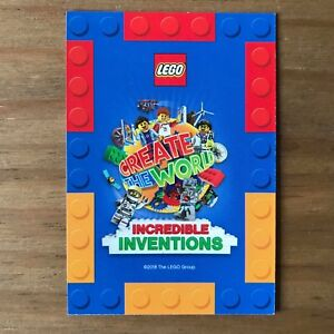 LEGO Sainsbury's Create The World INCREDIBLE INVENTIONS Swap Trading Cards