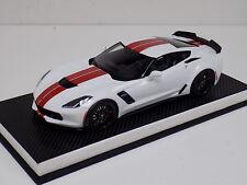 1/18 GT Spirit Chevrolet Corvette C7 06 in White Red Stripe GT214 Leather base