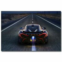 138010 New Mclaren P1 Super CarsRunning On The Road Car Decor Wall Print POSTER