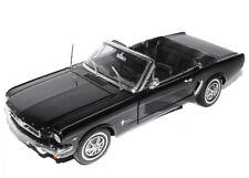 Ford Mustang 1964 1/2 Schwarz Cabrio Black 1/18 Welly Modellauto Modell Auto