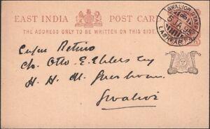 INDIA, Gwailor, 1895. Post Card 5, Lashkar