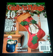 CRAFTS' N THINGS MAGAZINE ~CHRISTMAS SPECIAL 2002~13 SNOWMEN~ORNAMENTS~STOCKINGS