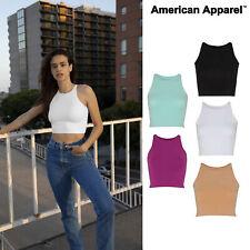 American Apparel Spandex S/Less Crop Top