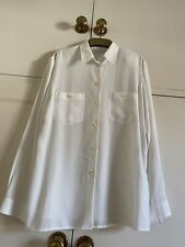 Gerry Weber Ladies White Blouse Size UK 14 EUR 40 Button Up Collared