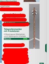 Weinert Telegrafenmasten mit 4 Isolatoren / Bausatz  Nr.3379  für H0
