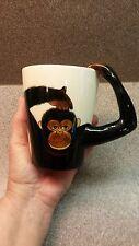 WORLD MARKET MONKEY COFFEE MUG CHIMP APE ARM HANDLE ANIMAL LOVER GIFT 12oz