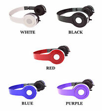 Dj Style Stereo Over Ear Headphones w Quality Sound for 3.5 mm Audio Lot Bundle