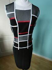 Joseph Ribkoff black mesh details dress size 12