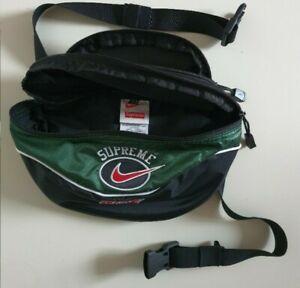SS19 Supreme x Nike green shoulder / waist bag