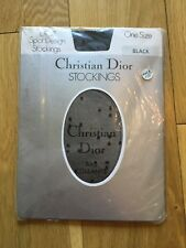 Vintage Christian Dior Nylon Black Spot Design Stockings Size 8.5-11 US 6.5-9 UK