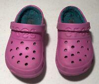 Crocs Kids Classic Fuzz Lined Graphic Clog Sz C10