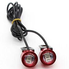 2x DC 12V Motorcycle Rearview Mirror Eagle Eye 3 LED Flash Strobe Lights DRL/
