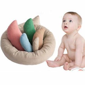 6PCS Baby Photography Pillow Basket Filler Wheat Donut Newborn Posing Props