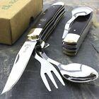 """3.25""""ELK RIDGE MULTI-TOOL HOBO FOLDING UTENSIL SPOON/FORK/KNIFE + BOTTLE OPENER"""