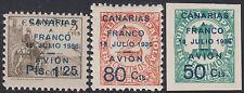 España Spain Canarias 20/22 1937 Canarias a Franco Cifras y Cid Numbers MNH