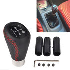 Manual Car Gear Shifter Shift Lever Knob Cover 5 Speed Line Leather Car Parts Sh