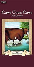 2019 LANG Vertical Wall Calendar COWS COWS COWS artwork by Lowell Herrero