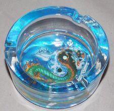 NEW YING YANG DRAGON FISH DECORATIVE GLASS ASHTRAY SMOKING VESSEL HOLDER